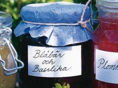 Blåbärssylt med basilika och lime Receptbild - Allt om Mat