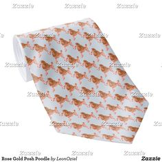 Shop Rose Gold Posh Poodle Neck Tie created by LeonOziel. Custom Ties, Wedding Announcements, Unique Image, Poodle, Floral Tie, Night Out, Rose Gold, Pattern, Gifts