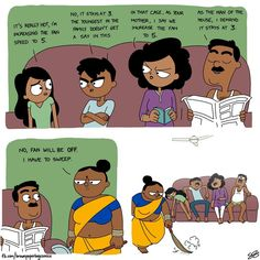 Indian Illustrator Captures What It's Like Growing Up In An Indian Family - World's largest collection of cat memes and other animals Seriously Funny, Really Funny Memes, Funny Relatable Memes, Funny Jokes, Funny Stuff, Stupid Memes, Indian Funny, Indian Jokes, Funny School Memes