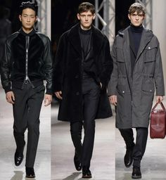 männer outfits Hermes fall winter 2014 2015 2015 Fashion Trends, 2015 Trends, High Fashion, Mens Fashion, Fashion Tips, Business Attire For Men, Winter 2014 2015, Dress For You, Raincoat