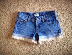 DIY lace shorts from pants