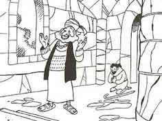 Lucas 18: De fariezeer en de tollenaar gaan beide bidden.