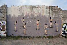 Superb and unsettling work by @dadi_dreucol in Spain (http://globalstreetart.com/dadi-dreucol).