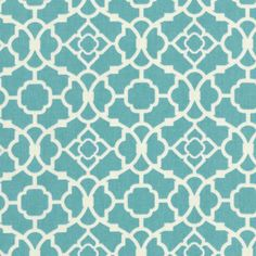 Home Decor Print Fabric- Waverly Lovely Lattice Aqua
