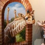 3D paintings at the Magic Art Special Exhibition in China
