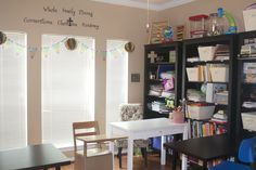 Organizing the homeschool area