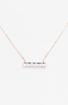 de33b96b9b9 Dana Rebecca Designs 'Sylvie Rose' Diamond Bar Pendant Necklace available  at #Nordstrom Dana