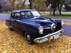 My first automobile was a powder blue 2 door 1950 Studebaker champion with a three speed column shift and a mechanical Borg Warner overdrive and powered by a six cylinder engine.  I paid fifty dollars for the car.