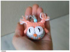 Crochet Animal KeychainOwl Amigurumi KeyringFunny by Etilinki