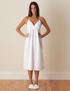 Summer nights are coming! Be ready with cool, comfortable cotton from Jacaranda Living. Cotton Sleepwear, Sleepwear Women, Pajamas Women, Women's Pajamas, Purple Lingerie, Pretty Lingerie, White Nightgown, White Dress, Amy White