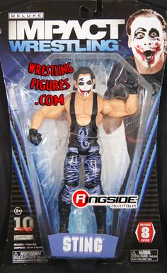 RINGSIDE COLLECTIBLES WWE Toys, Wrestling Action Figures, Jakks Pacific, Classic Superstars Action F: JOKER STINGTNA DELUXE IMPACT 8TNA Toy Wrestling Action Figure