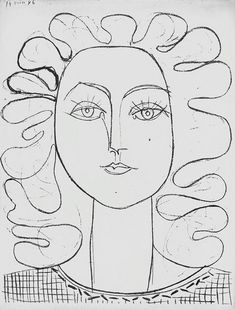line drawing of Francoise Gilot by Picasso