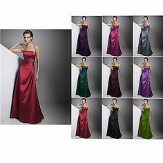 NEW Wedding Dress Evening Dress Bridesmaid Dress Gown Prom Party Dress size 6-16