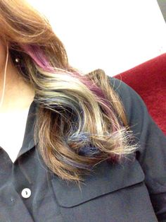 ブルーと、紫入れた♪