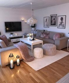 Affirmations Home Living Room Designs Cozy Living Rooms Living Room Ideas 2019, Living Room Goals, Cozy Living Rooms, Living Room Grey, Home And Living, Living Room Ideas Pink And Grey, Small Living Room Ideas On A Budget, Living Room Candles, Rustic Apartment