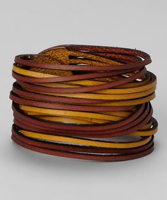 Take a look at this Cognac & Saffron Sliced Bracelet on zulily today!