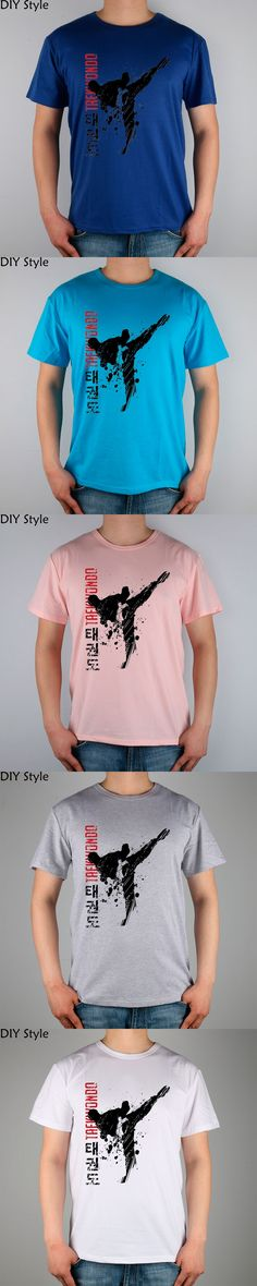 Cln Taekwondo Short Sleeve t-shirt Top Lycra Cotton Men T Shirt New Diy Style
