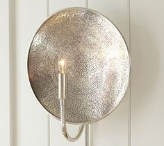 Anza Etched Sconce #potterybarn