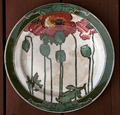 Art Nouveau Royal Doulton Poppies Plate | Flickr - Photo Sharing!