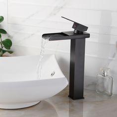 ELITE 8814ORB Oil Rubbed Bronze Water Fall Design Single Lever Vessel Sink