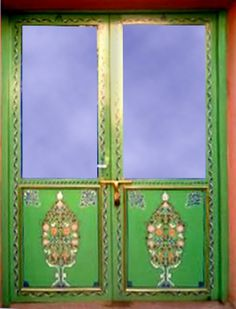 This Antique 19th Cen Fine Art Door With Glass Is Over 130 Years Old