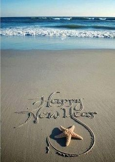 Happy New Year.Written in the Ocean Beach Sand. Happy New Year 2015, Happy 2015, Year 2016, Happy New Year Quotes, Happy New Year Wishes, Happy Year, Happy Quotes, I Love The Beach, My Happy Place