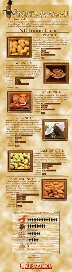 Here is a infographic that is all about NUTS and their Nutrition facts. Hope you like it.