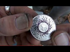 Give you a gander on how to find center of any size coin, using any size punch hole. When you decide to upgrade to silver, more expensive coin rings, a digit...