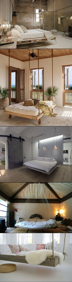 DIY hanging bedroom beds - I have wanted a hanging bed since I was 14 years old . - DIY hanging bedroom beds – I have wanted a hanging bed since I was 14 years old and we were desig - Hanging Beds, Diy Hanging, Backyard Hammock, Hammock Ideas, Outdoor Hammock, Diy Pallet Bed, Creation Deco, Deco Design, Bedroom Bed