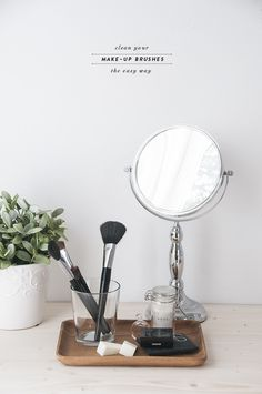 The Easiest Way to Clean your Makeup Brushes - Earnest Home co.