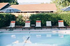 Pool view Roux at Ojai Rancho Inn - fun and funky hotel in Ojai, California on our road trip   Emilie Waugh Photography