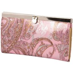 Floral Print Light Pink Clutch Purse ($9.52) found on Polyvore