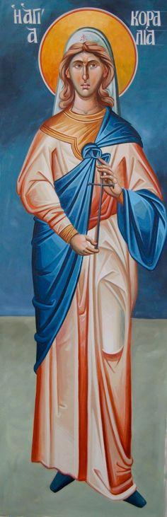 Aγ.Κοραλια__ από τις Αγίες Τεσσαράκοντα Παρθένες και Ασκήτριες και Αμμούν ο διδάσκαλος αυτών Sept. 1.