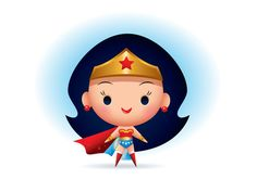 Wonder Woman designed by Jerrod Maruyama. the global community for designers and creative professionals. Baby Wonder Woman, Wonder Woman Comic, Disney Drawings, Cute Drawings, Wonder Woman Drawing, Jobs In Art, Tsumtsum, Cute Disney Wallpaper, Disney Cartoons