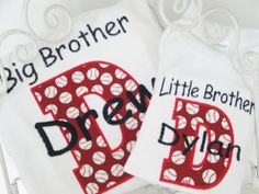 Personalized Siblings Applique T shirts or by LiviLouSewShoppe, $23.99, big brother, little brother