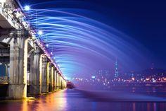 As pontes urbanas mais incríveis do mundo - Banpo Bridge (Seul, Coreia do Sul)
