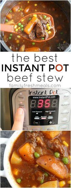 The Best Instant Pot Beef Stew - #FamilyFreshMeals #instantpot #beefstew #instantpotrecipe #recipe #stew #familyfavorite #easyrecipe