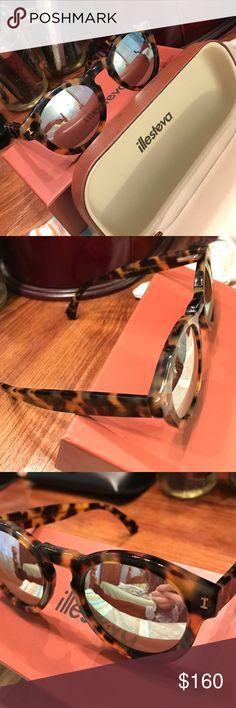 "Illesteva ""Leonard"" Sunglasses Illesteva ""Leonard"" 48mm sunglasses. tortoise color, mirrored lenses. purchased from Nordstrom, rarely worn. Used probably 3 times. Almost like new. Slight marks on the case only. Actual sunglasses are like new. Includes the original box, sunglasses case, and pouch. Illesteva Accessories Sunglasses"