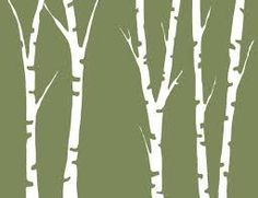 Image result for birch tree silhouette