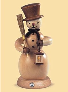 85 Muller Collectible German Male Snowman Smoking Man Wooden Christmas Smoker -- You can get more details by clicking on the image.