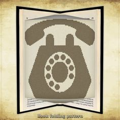 Book folding pattern Telephone for 366 by FoldingBookPatterns