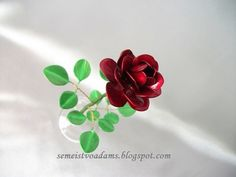 PDF How to make a red wire rose with nail polish