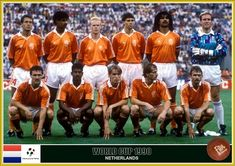 Netherlands - World Cup 1990 Fifa Football, Football Icon, Best Football Players, Ruud Gullit, Ronald Koeman, Fan Picture, Kids Soccer, Fifa World Cup, All Star