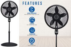 Pin On Top 10 Best Standing Floor Fans With Remote Reviews