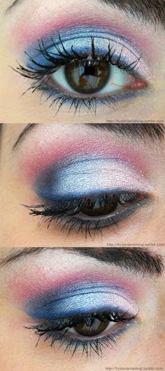 I love colorful eyeshadow!