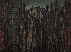 The Forest by Max Ernst, Guggenheim Museum Size: cm Medium: Oil on canvas The Solomon R. Guggenheim Foundation Peggy Guggenheim Collection, Venice, 1976 © 2016 Artists Rights Society. Max Ernst, Magritte, Surrealist Manifesto, Peggy Guggenheim, Museums In Nyc, Surrealism Painting, Tumblr, Sculpture, Surreal Art