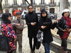 """Largo do Carmo during the """"Capitães de Abril"""" tour with special guests. Photo by Denilson Félix"""