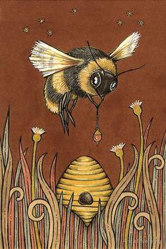 Honey Bee Illustration