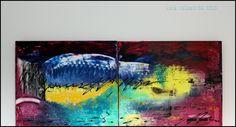 """"""" Boogaloo""""  canvas 36 x 15"""