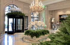 Classy colibri at the Four Seasons Hotel George V Paris, flower creations by Jeff Leatham ©classycolibr Palaces, Jeff Leatham, Hotel Flowers, Four Seasons Hotel, Hotels And Resorts, Flower Decorations, Your Space, Entrance, 1